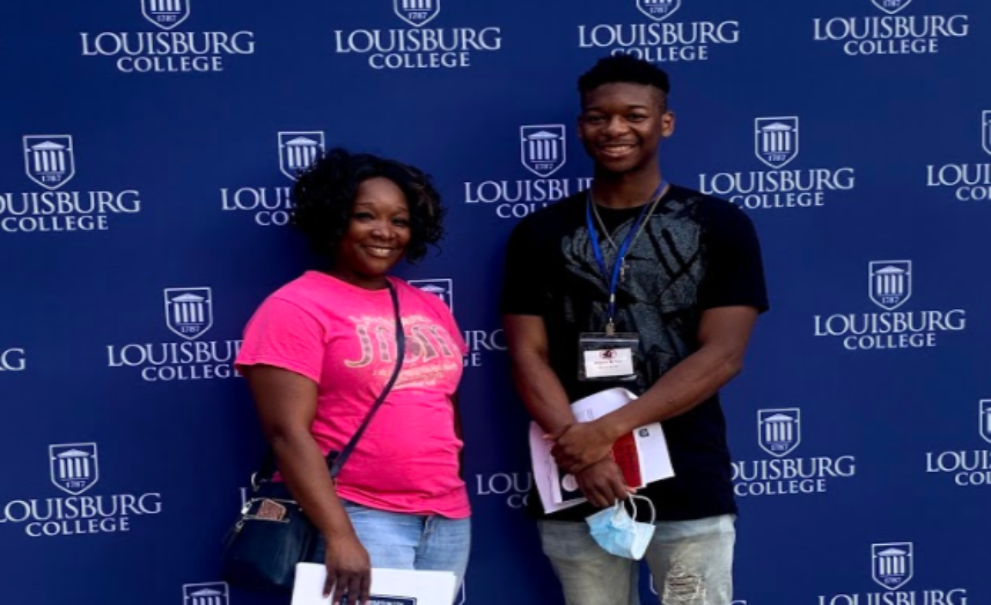 Parent and Student at Fall 2020 Checkin